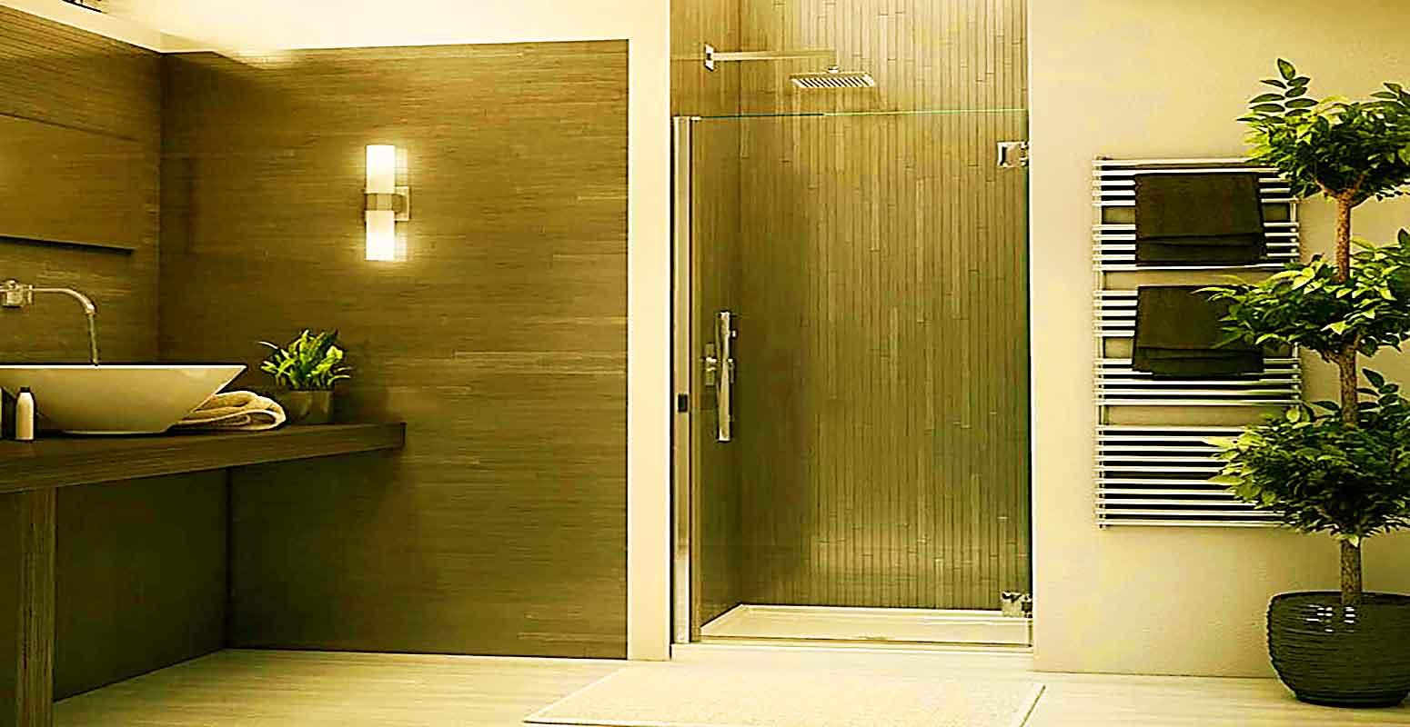 изготовление стеклянных душевых дверей на заказ двери для